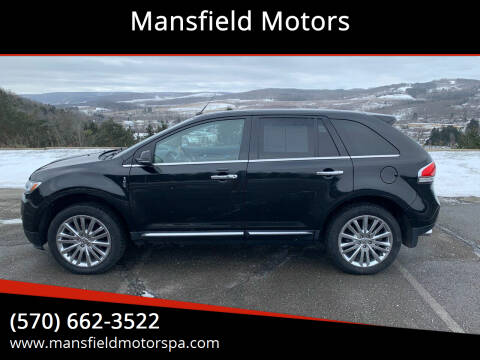 2013 Lincoln MKX for sale at Mansfield Motors in Mansfield PA