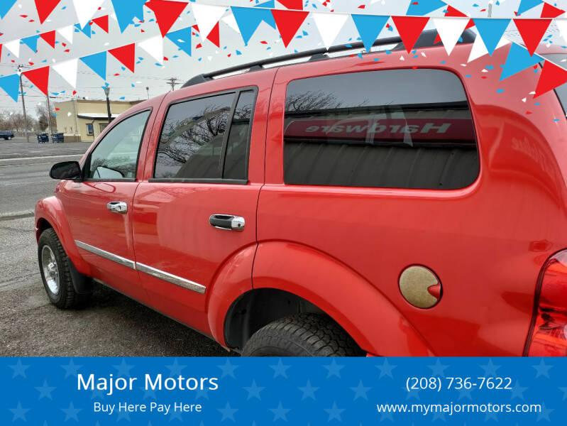 2006 Dodge Durango for sale at Major Motors in Twin Falls ID