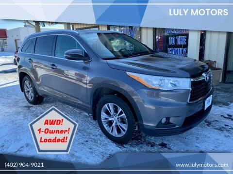 2014 Toyota Highlander for sale at Luly Motors in Lincoln NE