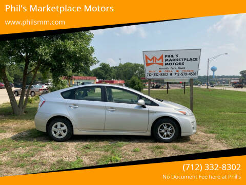 2010 Toyota Prius for sale at Phil's Marketplace Motors in Arnolds Park IA