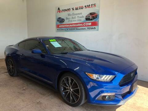 2017 Ford Mustang for sale at Antonio's Auto Sales in South Houston TX
