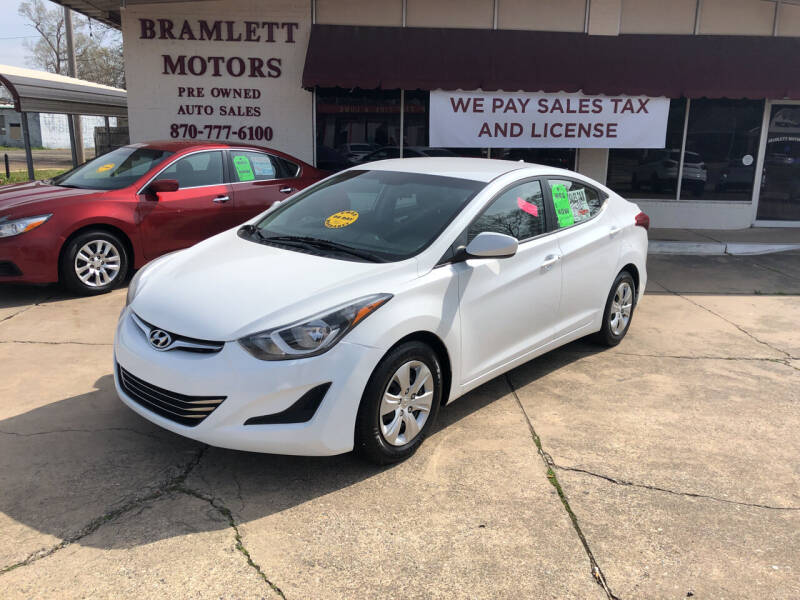 2016 Hyundai Elantra for sale at BRAMLETT MOTORS in Hope AR