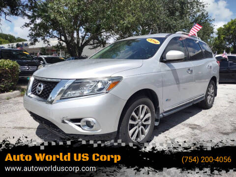 2014 Nissan Pathfinder Hybrid for sale at Auto World US Corp in Plantation FL