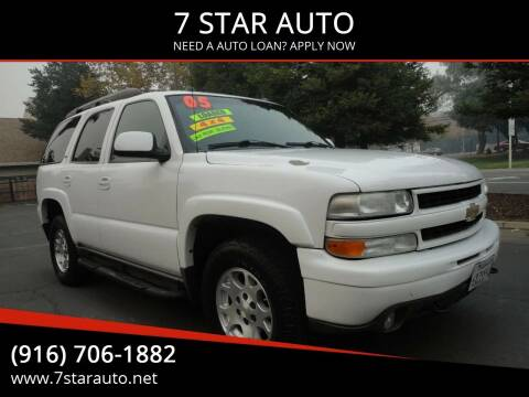 2005 Chevrolet Tahoe for sale at 7 STAR AUTO in Sacramento CA