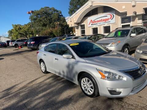 2013 Nissan Altima for sale at Advantage Motors in Newport News VA