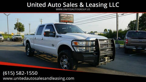 2014 Ford F-250 Super Duty for sale at United Auto Sales & Leasing LLC in La Vergne TN
