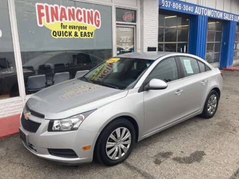2014 Chevrolet Cruze for sale at AutoMotion Sales in Franklin OH