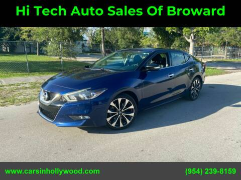 2016 Nissan Maxima for sale at Hi Tech Auto Sales Of Broward in Hollywood FL