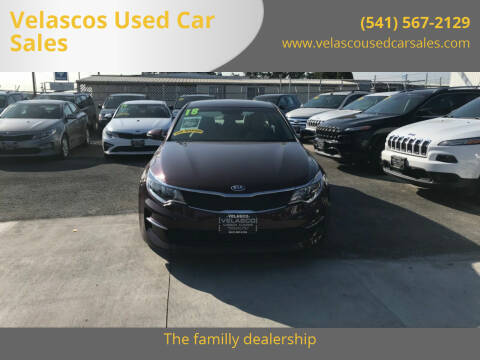 2018 Kia Optima for sale at Velascos Used Car Sales in Hermiston OR