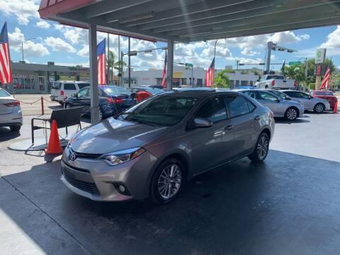 2015 Toyota Corolla for sale at American Auto Sales in Hialeah FL