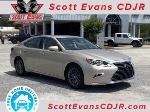 2018 Lexus ES 350 for sale at SCOTT EVANS CHRYSLER DODGE in Carrollton GA
