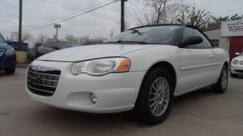 2004 Chrysler Sebring for sale at Exhibit Sport Motors in Houston TX