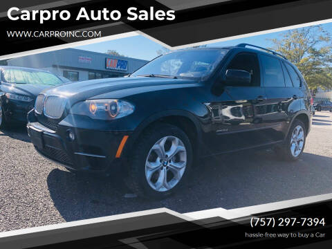 2011 BMW X5 for sale at Carpro Auto Sales in Chesapeake VA