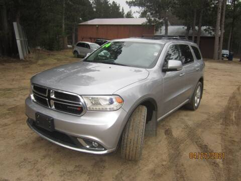 2014 Dodge Durango for sale at SUNNYBROOK USED CARS in Menahga MN