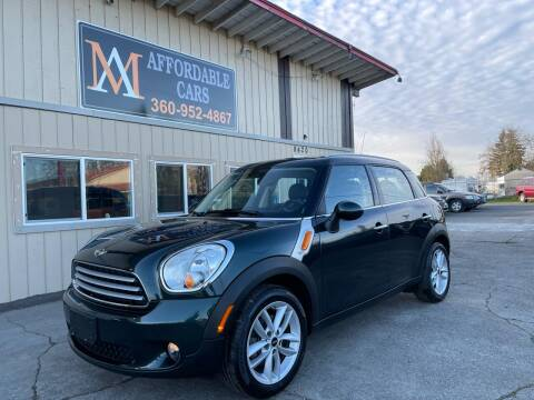 2013 MINI Countryman for sale at M & A Affordable Cars in Vancouver WA