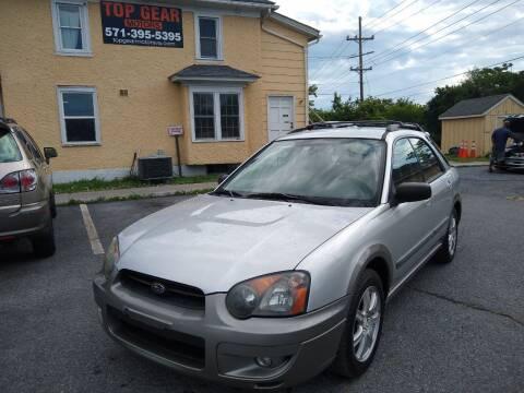 2005 Subaru Impreza for sale at Top Gear Motors in Winchester VA