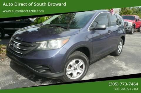 2014 Honda CR-V for sale at Auto Direct of South Broward in Miramar FL