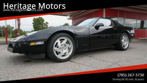 1990 Chevrolet Corvette for sale at Heritage Motors in Topeka KS