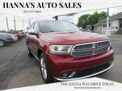 2014 Dodge Durango for sale at Hanna's Auto Sales in Indianapolis IN