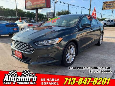 2016 Ford Fusion for sale at Alejandro Cars & Trucks Inc in Houston TX