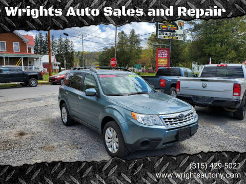 2012 Subaru Forester for sale at Wrights Auto Sales and Repair in Dolgeville NY