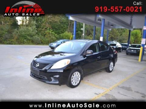 2012 Nissan Versa for sale at Inline Auto Sales in Fuquay Varina NC