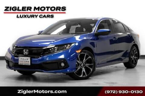 2021 Honda Civic for sale at Zigler Motors in Addison TX