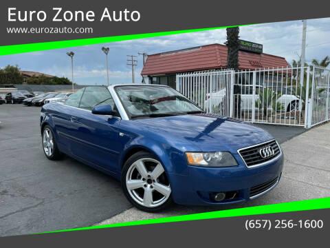 2006 Audi A4 for sale at Euro Zone Auto in Stanton CA