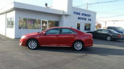 2013 Toyota Camry Hybrid for sale at VINE STREET MOTOR CO in Urbana IL