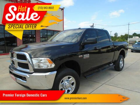 2016 RAM Ram Pickup 2500 for sale at Premier Foreign Domestic Cars in Houston TX
