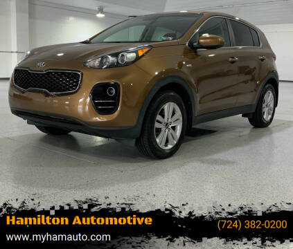 2017 Kia Sportage for sale at Hamilton Automotive in North Huntingdon PA