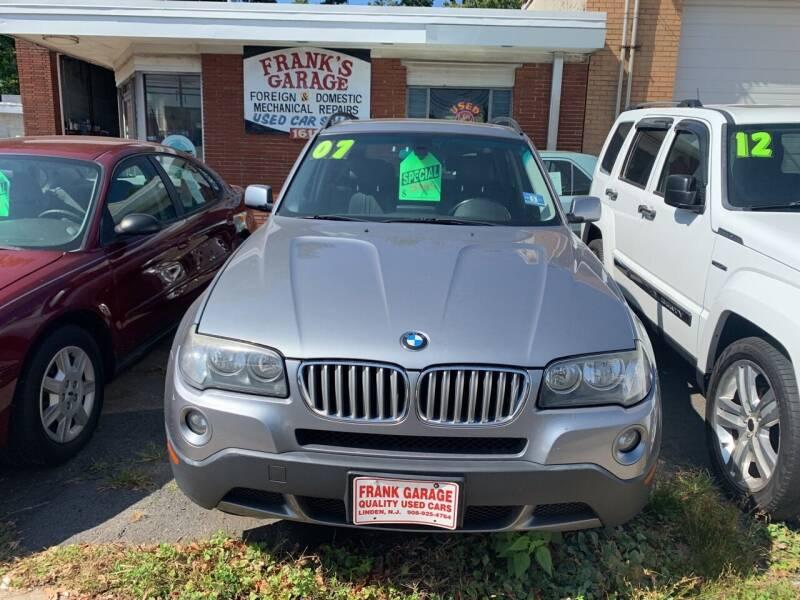 2007 BMW X3 for sale at Frank's Garage in Linden NJ