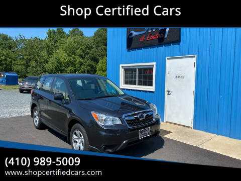 2014 Subaru Forester for sale at Shop Certified Cars in Easton MD