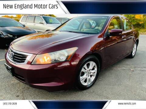 2010 Honda Accord for sale at New England Motor Cars in Springfield MA