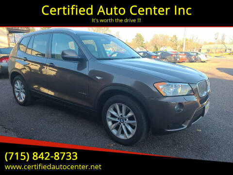 2014 BMW X3 for sale at Certified Auto Center Inc in Wausau WI