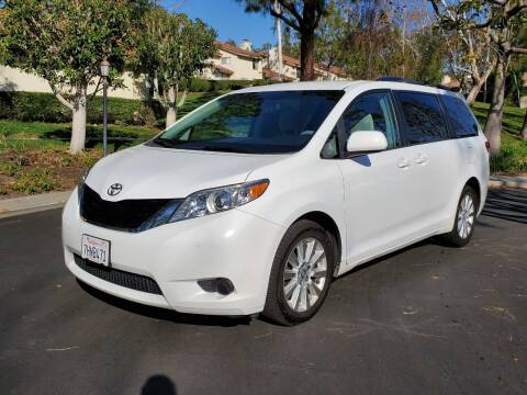 2014 Toyota Sienna for sale at E MOTORCARS in Fullerton CA