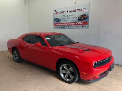 2015 Dodge Challenger for sale at Antonio's Auto Sales - Antonio`s  2206 in Pasadena TX