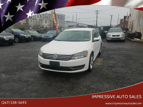 2012 Volkswagen Passat for sale at Impressive Auto Sales in Philadelphia PA