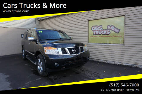2013 Nissan Armada for sale at Cars Trucks & More in Howell MI