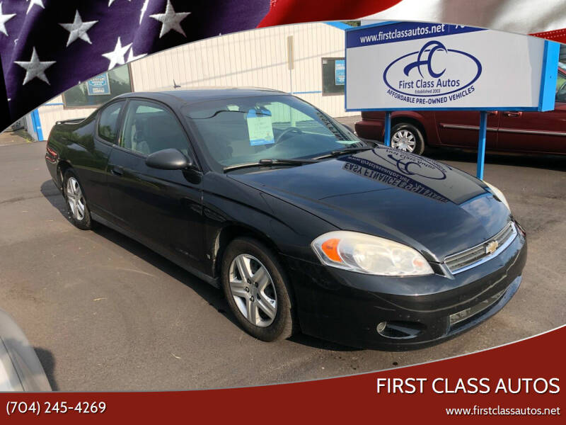 2006 Chevrolet Monte Carlo for sale at First Class Autos in Maiden NC