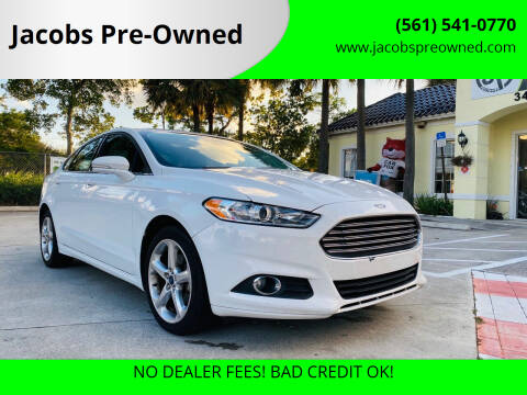 2016 Ford Fusion for sale at Jacobs Pre-Owned in Lake Worth FL