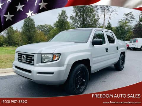 2007 Honda Ridgeline for sale at Freedom Auto Sales in Chantilly VA