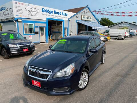 2013 Subaru Legacy for sale at Bridge Road Auto in Salisbury MA