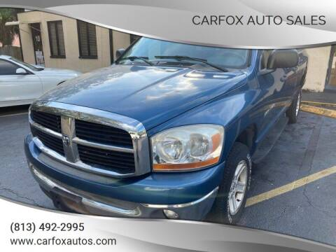 2006 Dodge Ram Pickup 1500 for sale at Carfox Auto Sales in Tampa FL