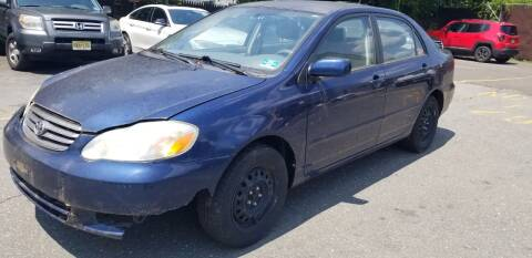 2003 Toyota Corolla for sale at Central Jersey Auto Trading in Jackson NJ