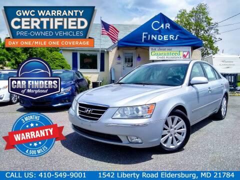 2009 Hyundai Sonata for sale at CAR FINDERS OF MARYLAND LLC - Certified Cars in Eldersburg MD