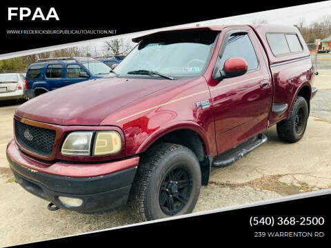 1999 Ford F-150 for sale at FPAA in Fredericksburg VA