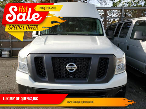 2017 Nissan NV Cargo for sale at LUXURY OF QUEENS,INC in Long Island City NY
