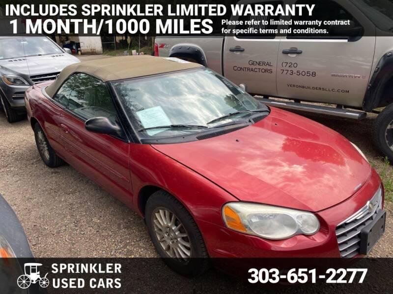 2006 Chrysler Sebring for sale at Sprinkler Used Cars in Longmont CO