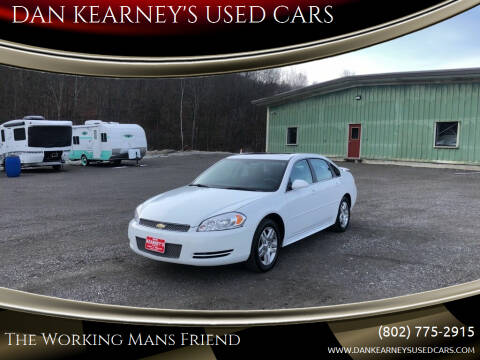 2013 Chevrolet Impala for sale at DAN KEARNEY'S USED CARS in Center Rutland VT